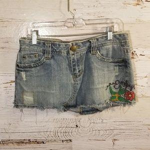 Empyre denim mini skirt